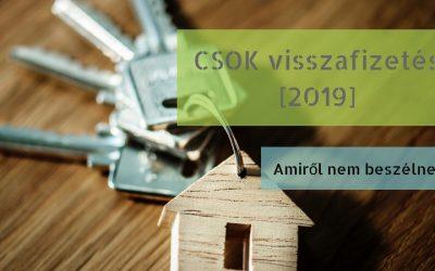 CSOK támogatás visszafizetése [2019]-ben